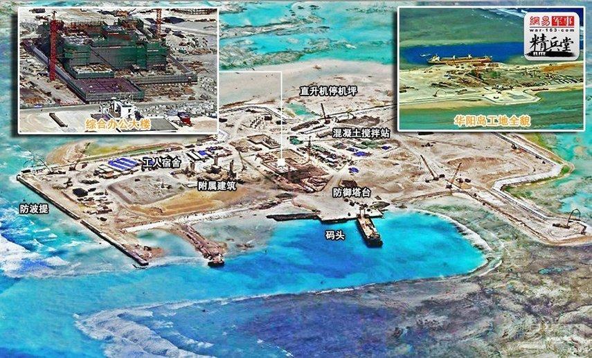 中国已经掌控南沙陆地面积的74%
