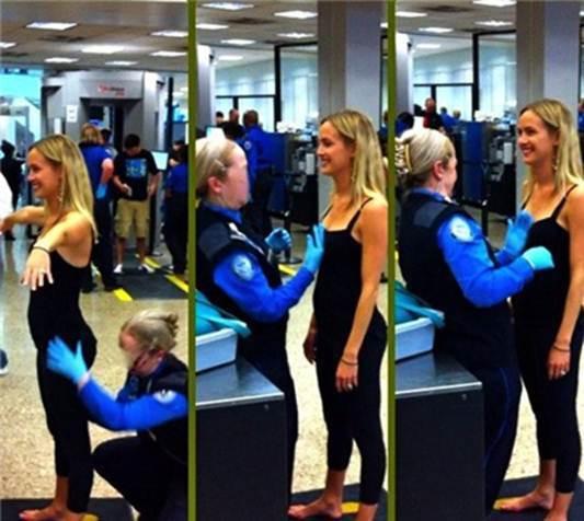 没想到飞机场安检员竟然是这么污的职业!