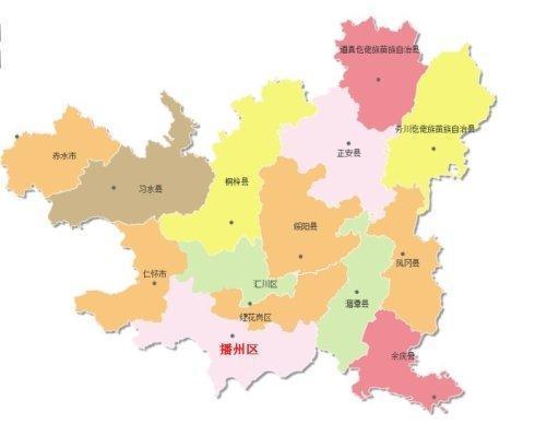 北京行政地图矢量素材