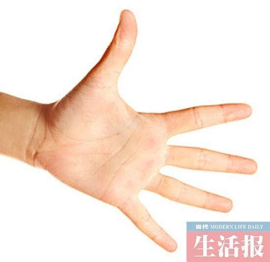 看手相知健康:手掌手指发红或发白可能身体有毛病