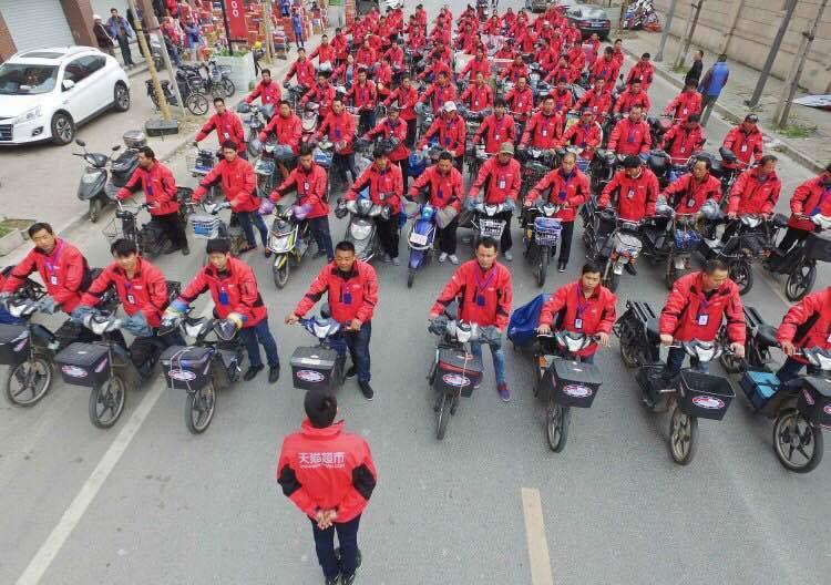 天猫超市上海订单激增 快递点招百人集训,淘