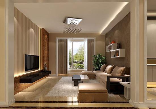 客厅电视背景墙造型 ↑图:欧式客厅背景墙效果图