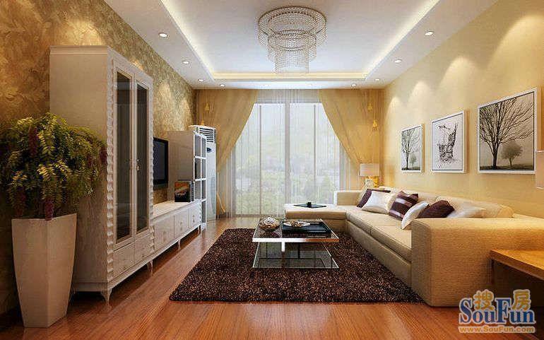 125平方二居室简约装修效果图