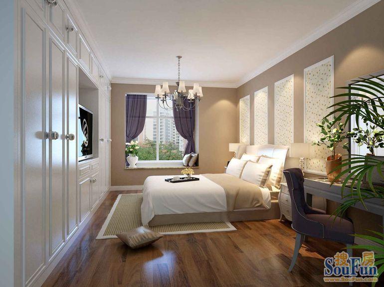 125平方二居室欧式装修效果图