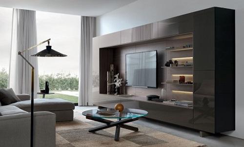 书柜电视柜收纳柜 十九款客厅整体柜设计