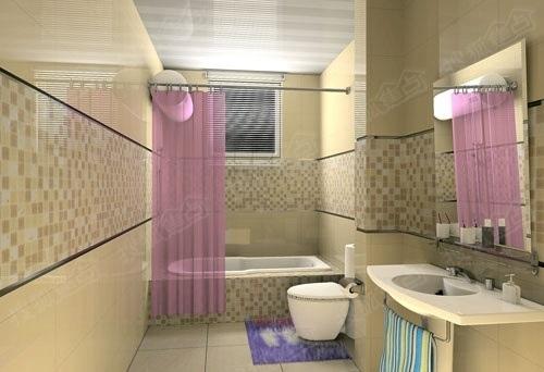小浴室里的大乾坤 浴帘帮你轻松干湿分离