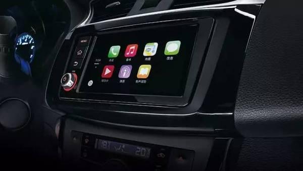 全新轩逸配备了苹果carplay智能互联系统.