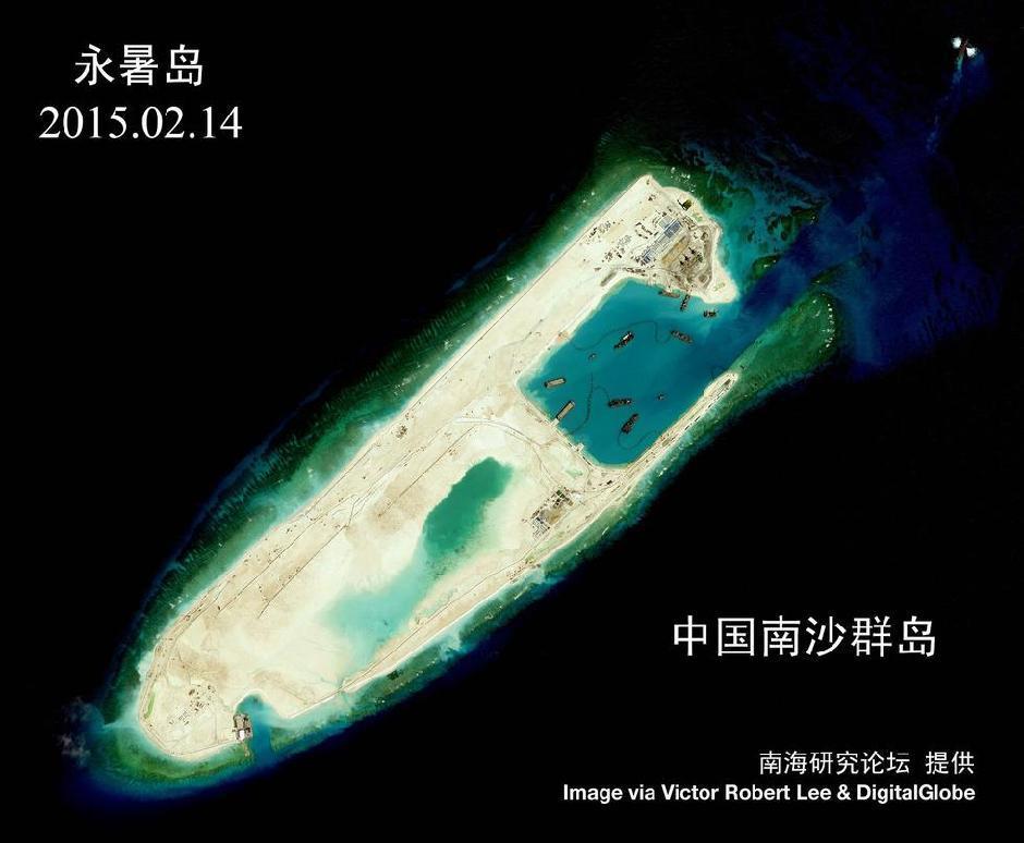 中国南海岛礁扩建最新卫星高清照曝光(组图)
