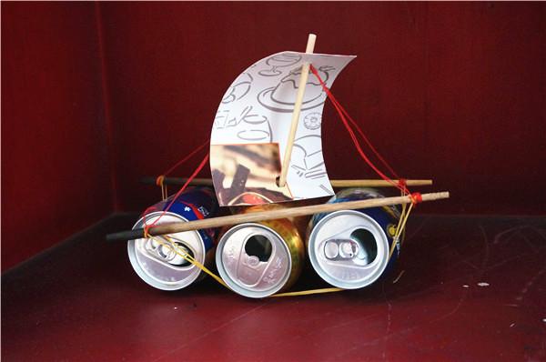 矿泉水瓶手工制作帆船