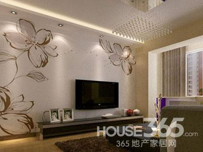 艺术玻璃电视背景墙的整体装修风格和户型