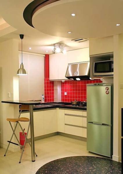 90平房子装修效果图:开放式厨房
