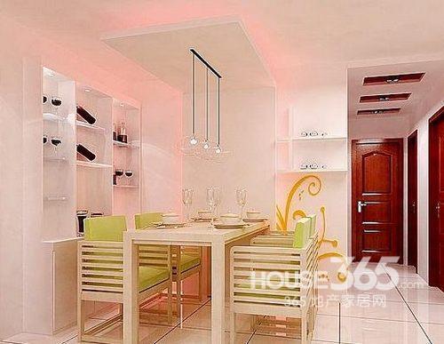客厅餐桌效果图:小户型家居空间餐厅装修借鉴,半开放式厨房